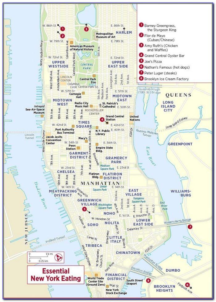 Printable Map Of New York City Neighborhoods