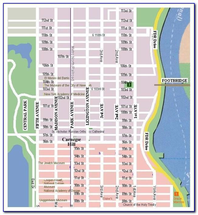 Printable Map Of New York City Subway