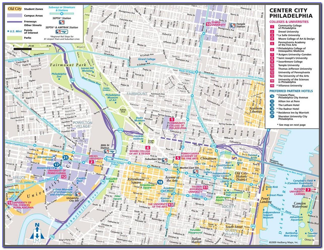 Printable Map Of Philadelphia Area