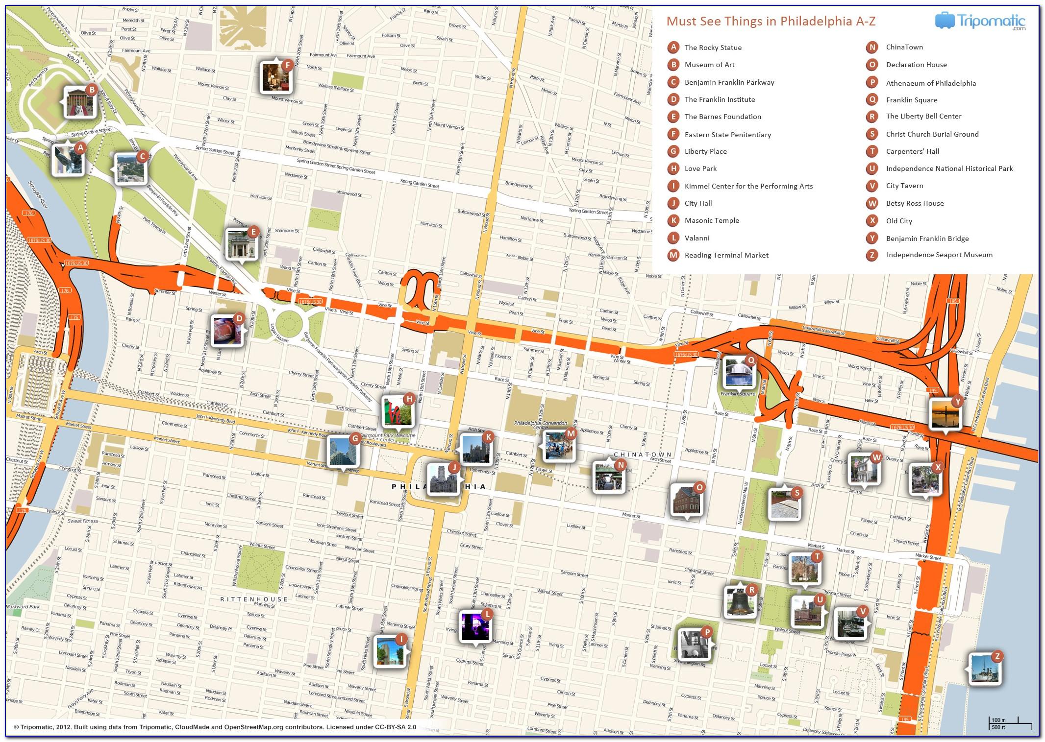Printable Map Of Philadelphia Neighborhoods