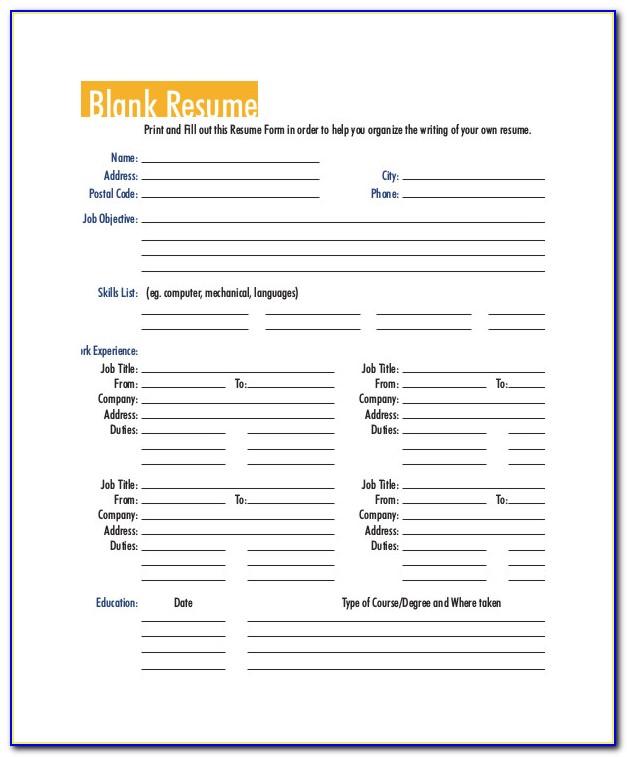 Printable Resume Template 2017