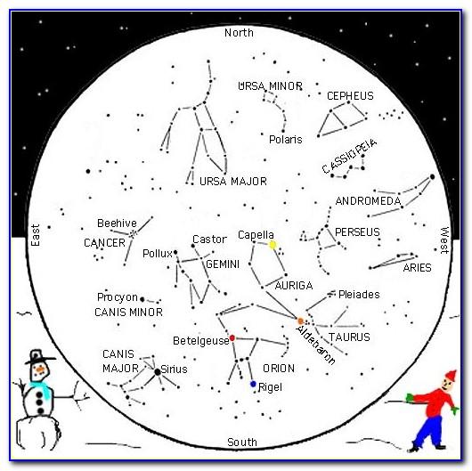 Printable Sky Map Constellation