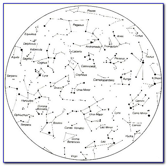 Printable Star Constellation Map