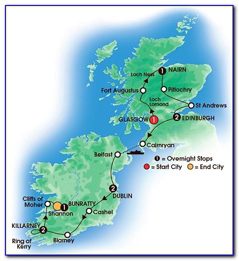 Printable Travel Map Of Ireland