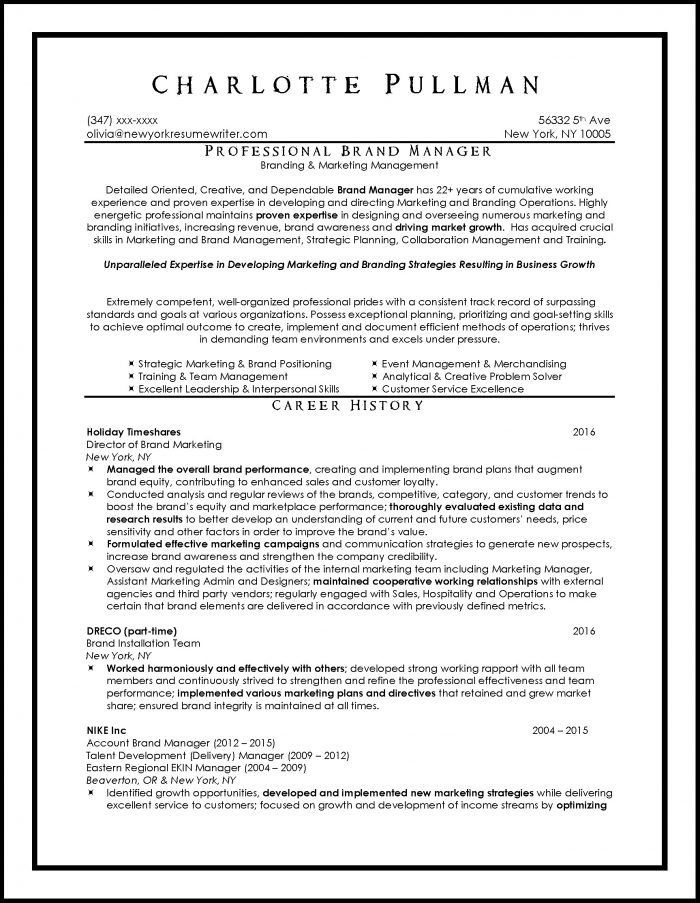 Professional Resume Services Nyc