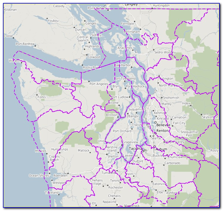 Puget Sound Fishing Area Map