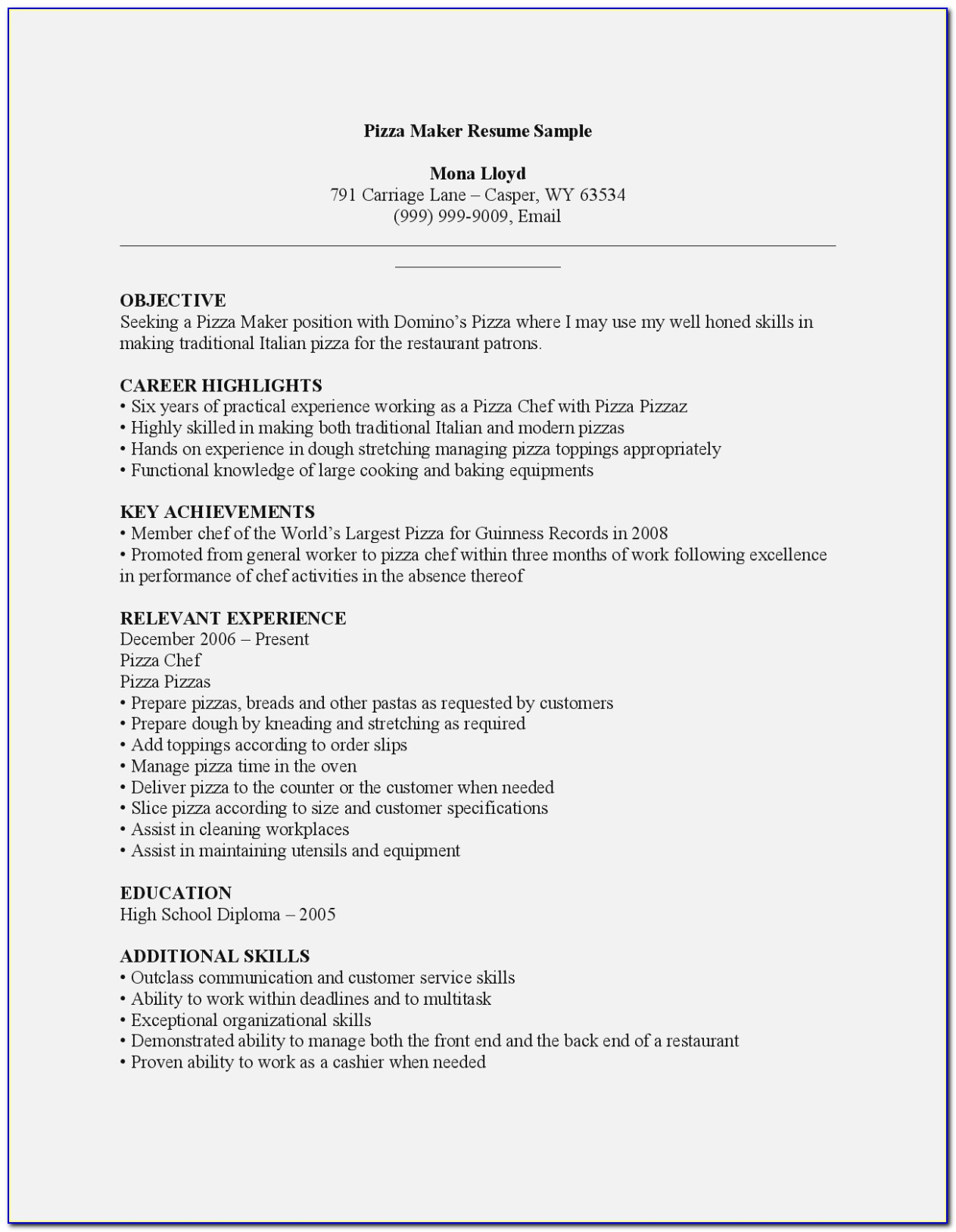 Quick Resume Maker Online