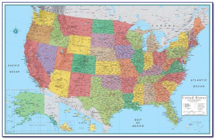Rand Mcnally Classic World Map 24x36