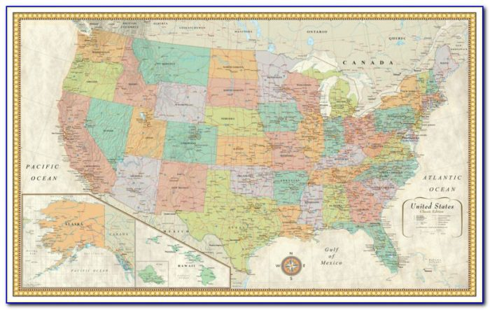 Rand Mcnally Classic World Map Framed