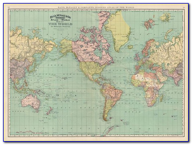 Rand Mcnally Classic World Map Giant Poster