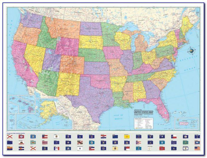 Rand Mcnally Signature United States Wall Map Laminated