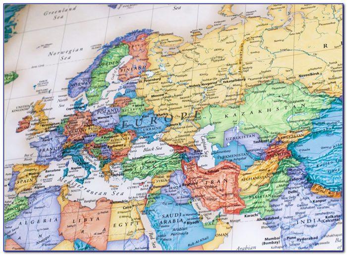 Rand Mcnally World Mural Wall Map