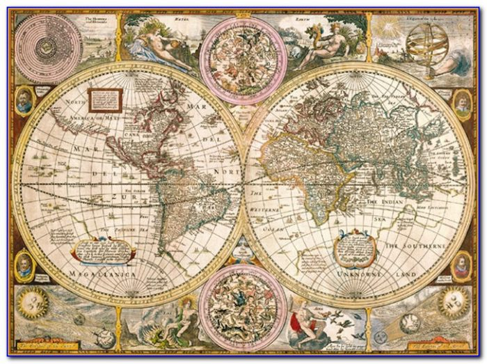 Ravensburger Antique World Map 5000