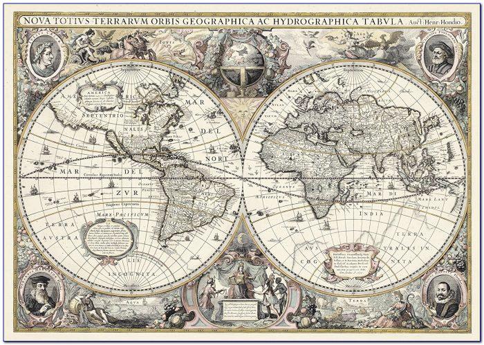 Ravensburger Antique World Map 5000 Pc Jigsaw Puzzle