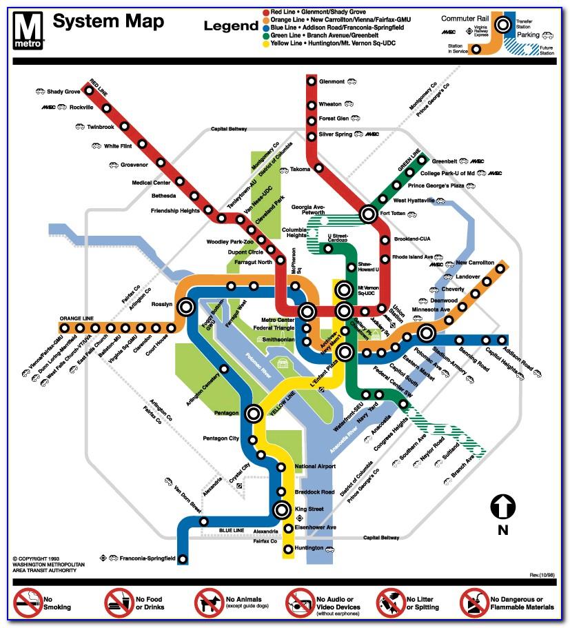 Red Line Metro Map Wash Dc