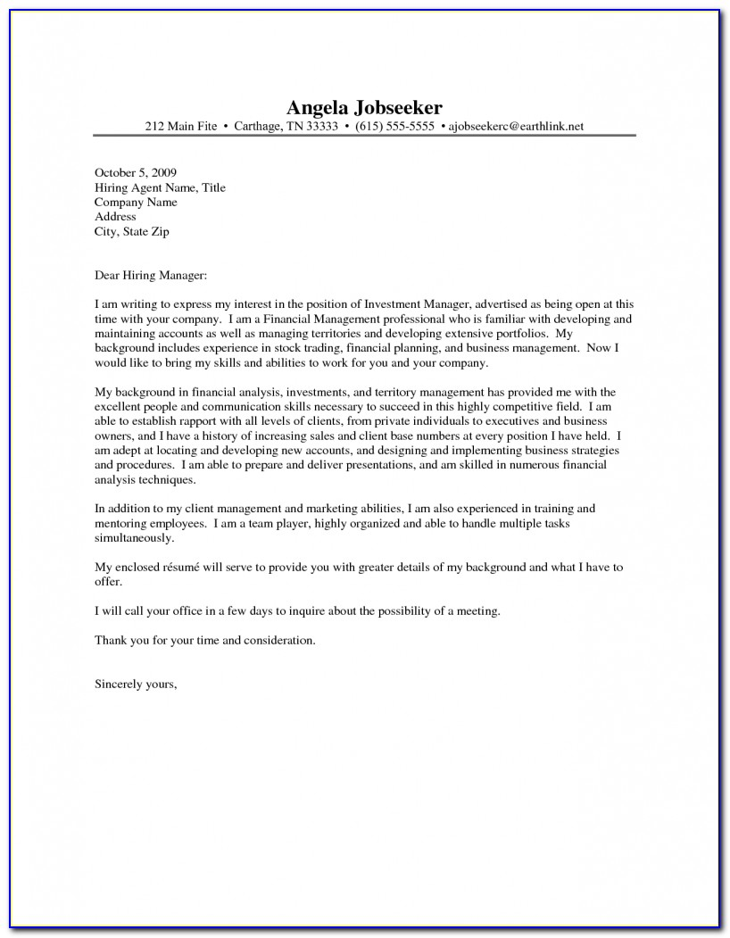 Resume And Cover Letter Template Word