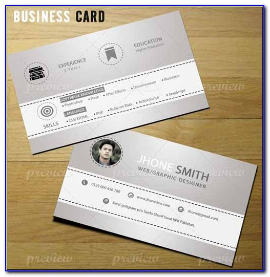 Resume Business Card Design