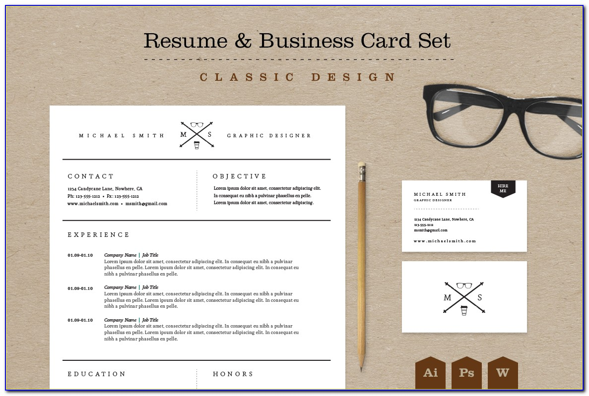 Resume Business Card Format
