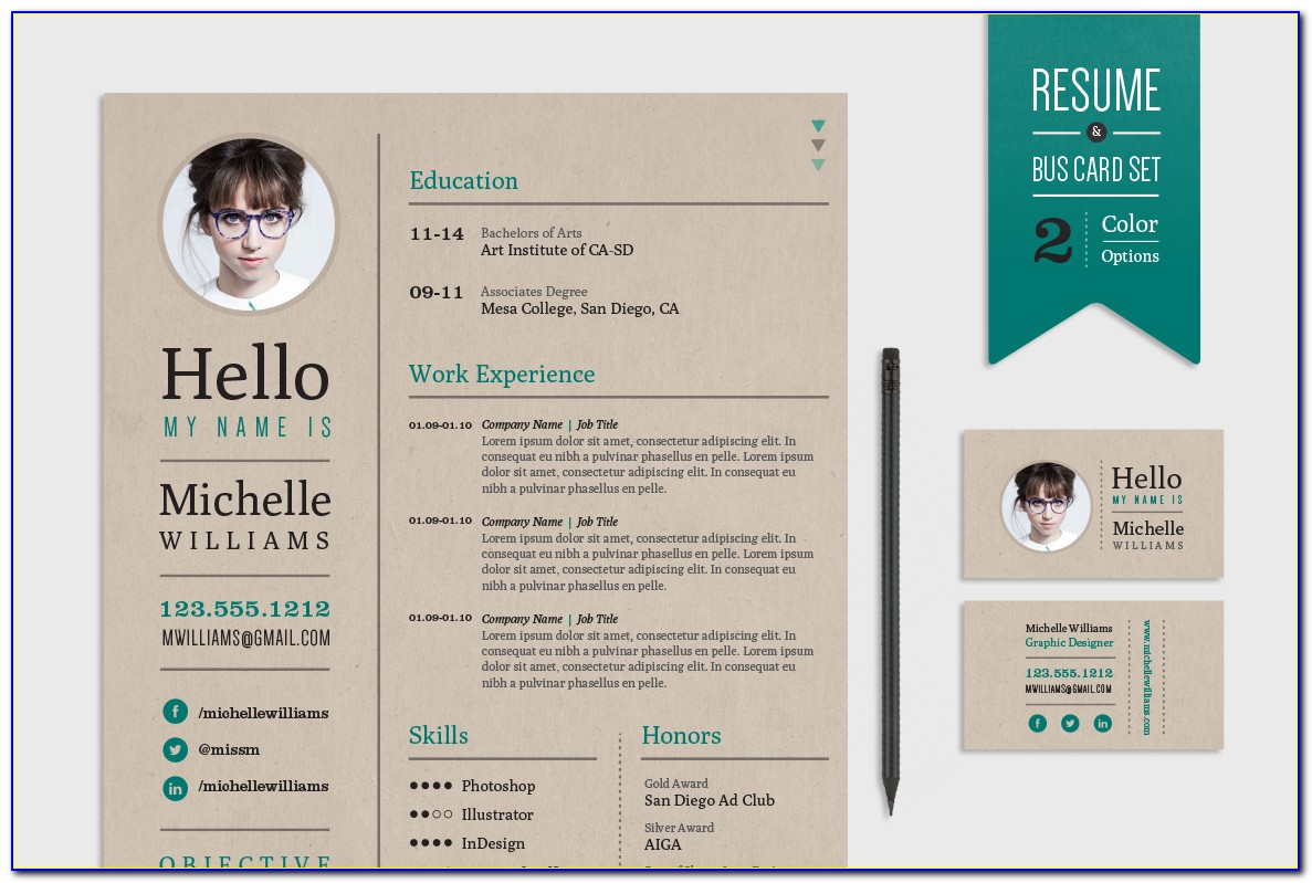 Resume Business Cards Template