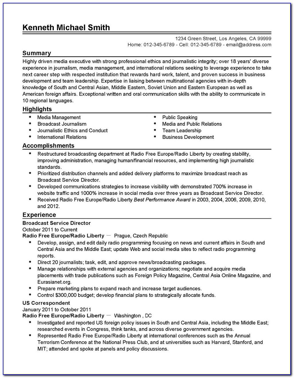 Resume Company Los Angeles