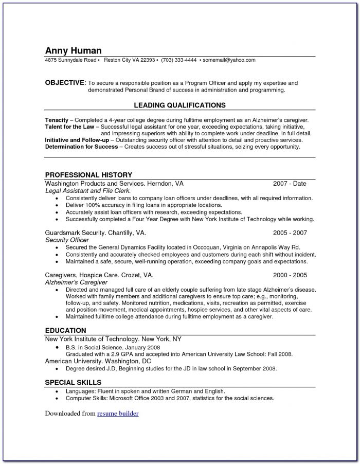 Resume Maker Online Best
