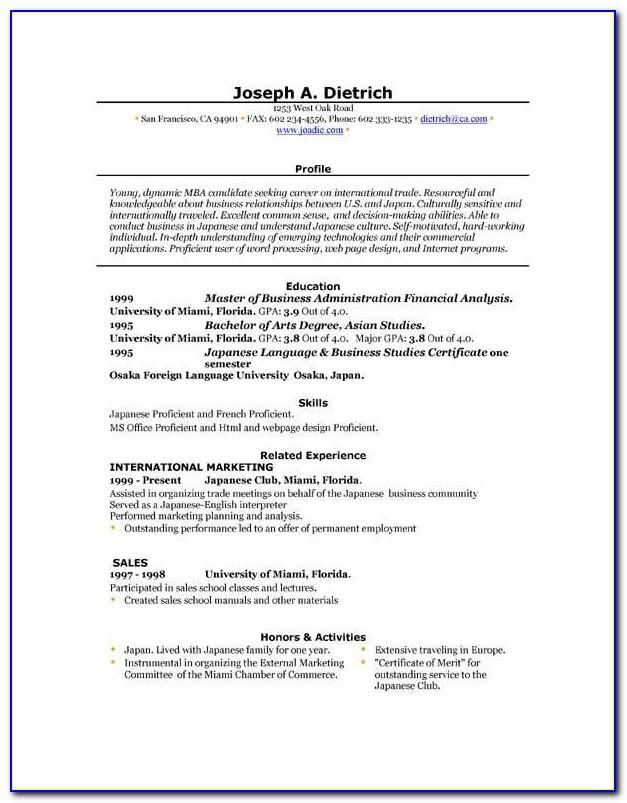 Resume Maker Online For Fresher