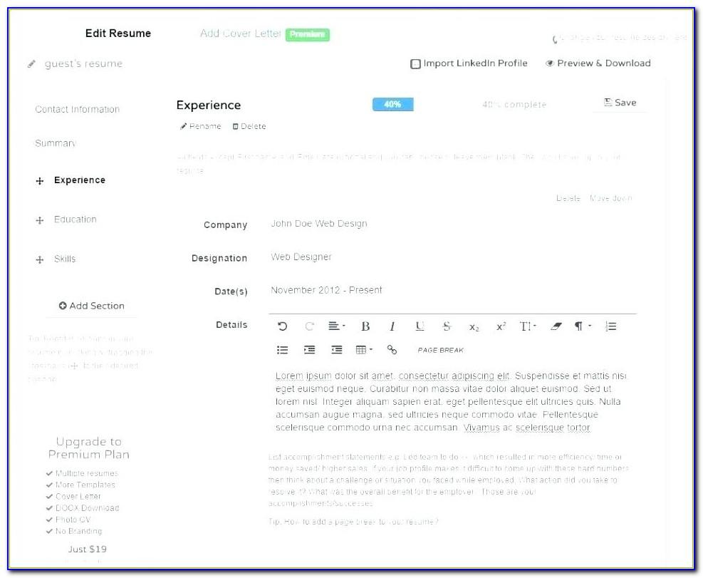 Resume Maker Software For Pc