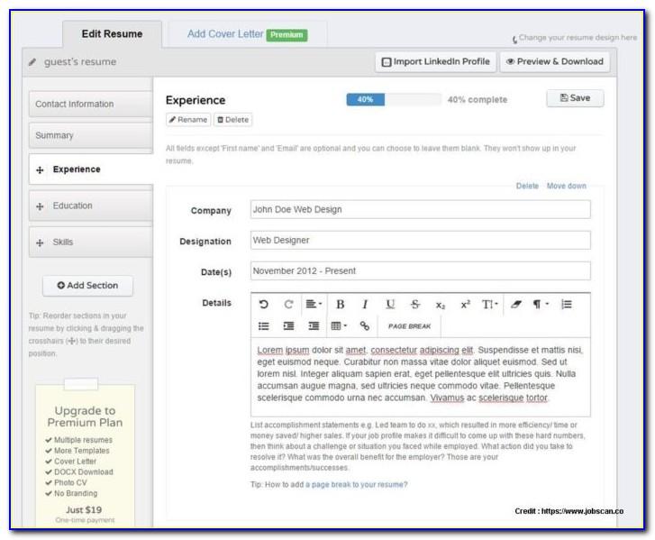 Resume Maker Software For Windows 10