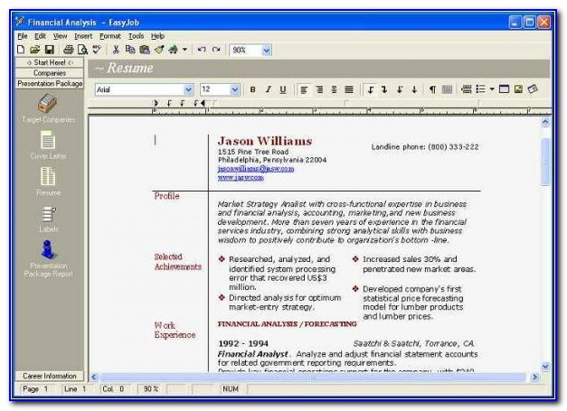 Resume Maker Software For Windows 7