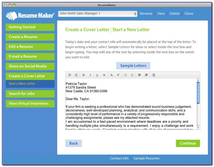 Resume Maker Software Free Download