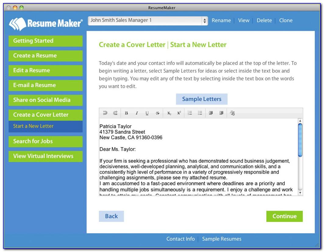 Resume Maker Software Free Download