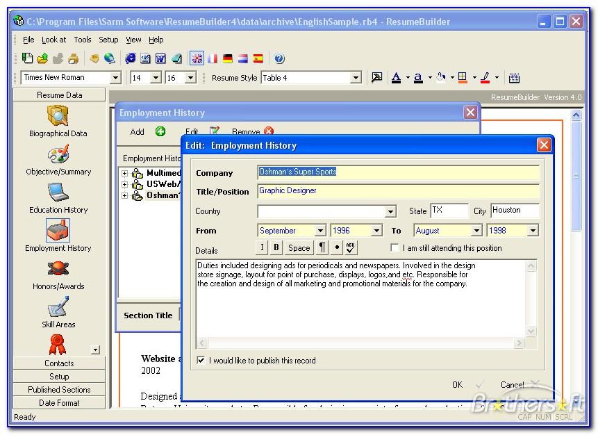 Resume Maker Software Online