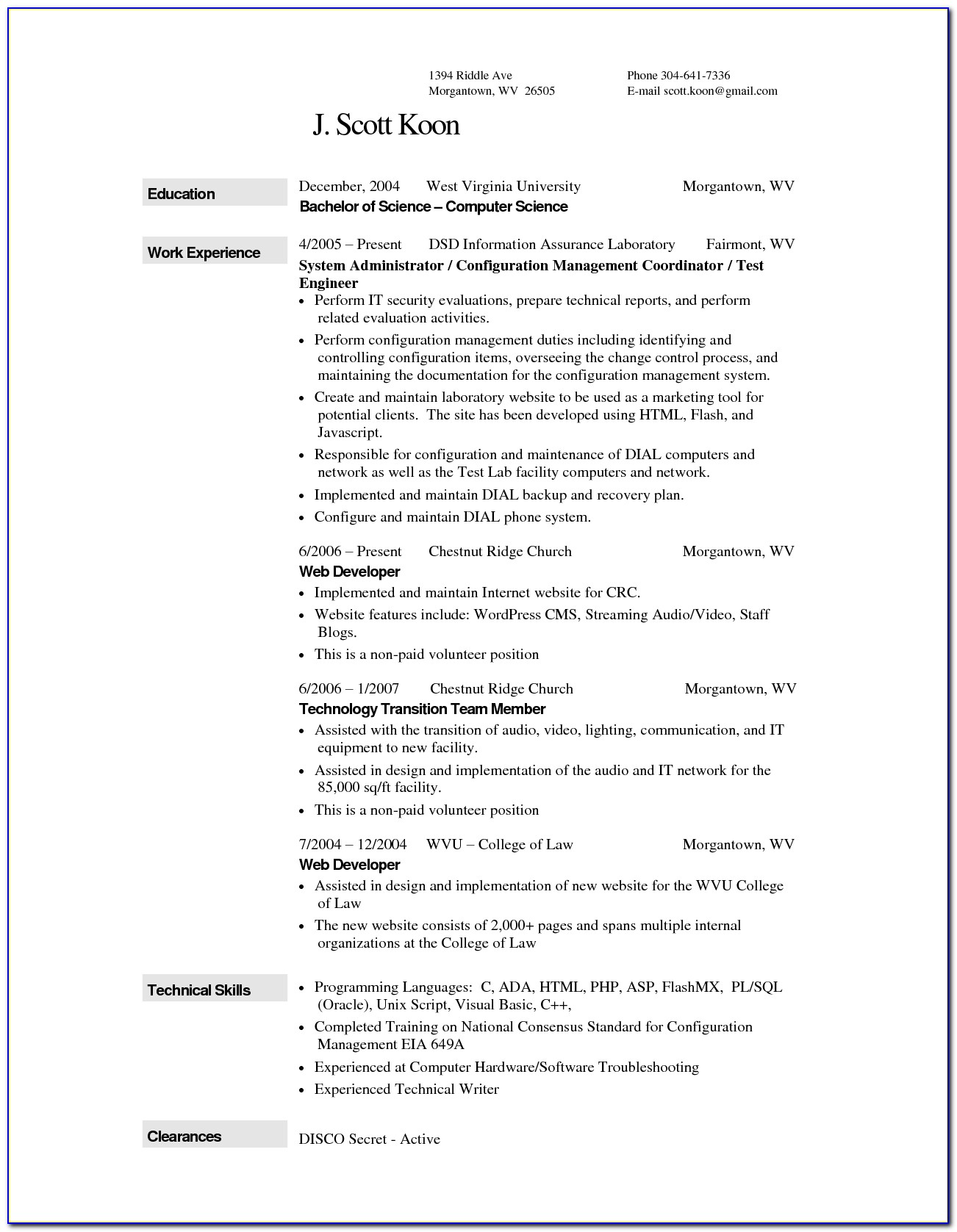 Resume Wizard Microsoft Word