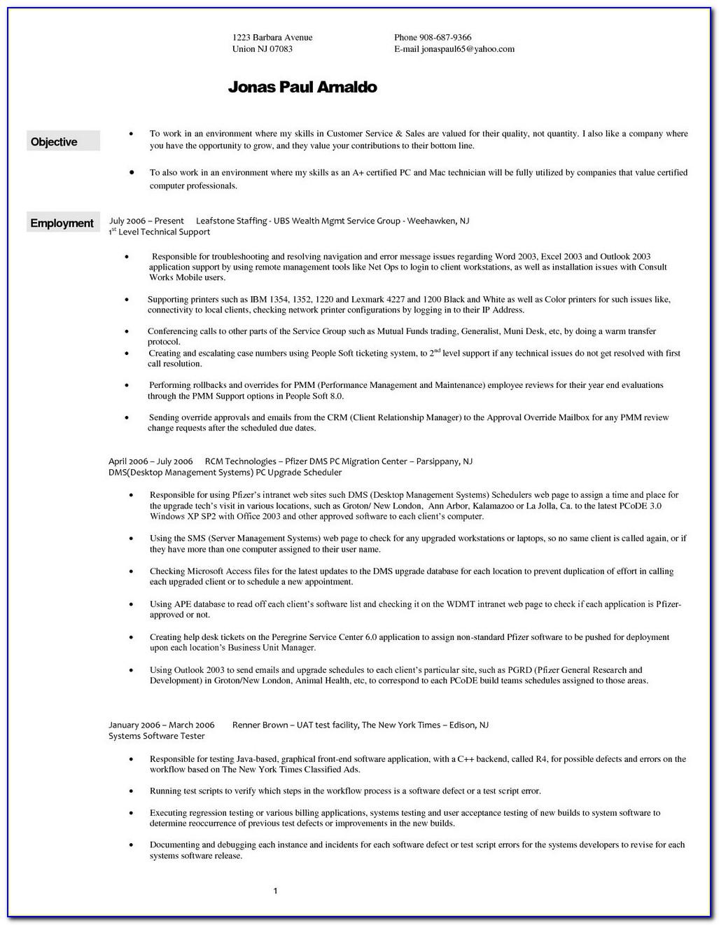 Resume Wizard Word 2003