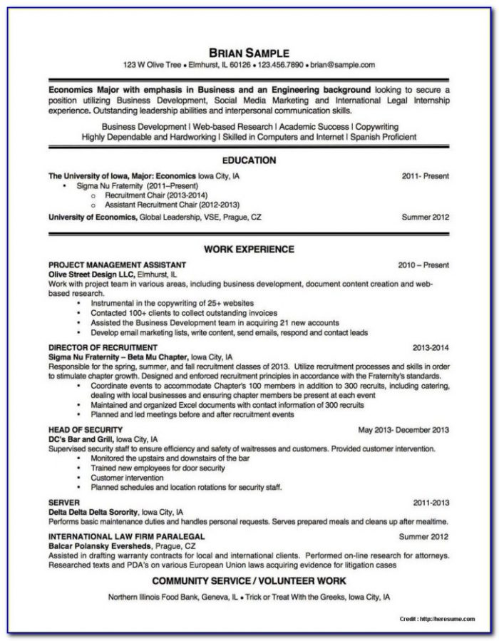 Resume Writers Chicago Il