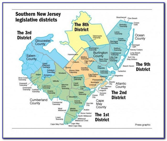 Road Map Of Cumberland County Nj