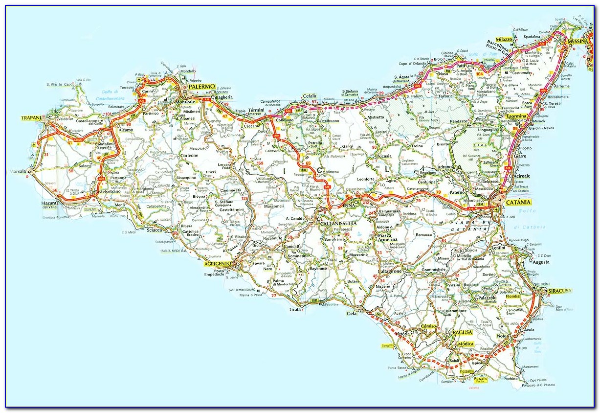 Road Maps Of Sicily