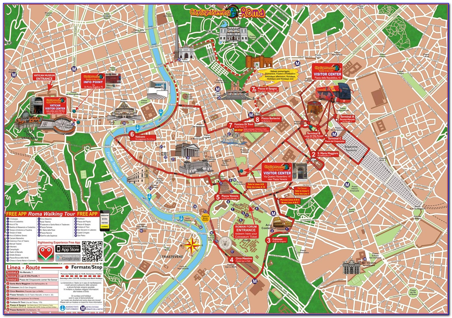 Rome Hop On Hop Off Bus Tour Map - Maps : Resume Examples ...