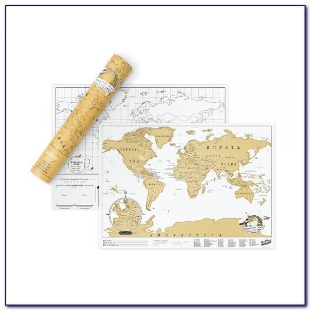 Rose Gold Scratch Map Uk