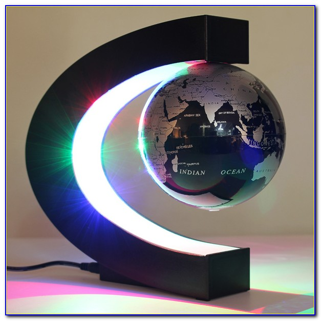 Rotating Magnetic Suspended In Air Levitation Floating Globe World Map
