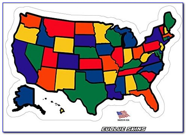Rv Vinyl State Stickers Map