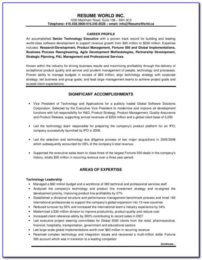 Sample Functional Resume Executive Assistant