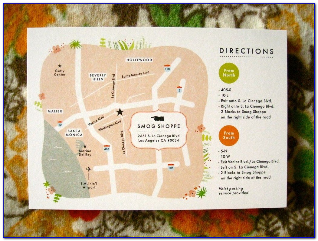 Sample Wedding Invitation With Map