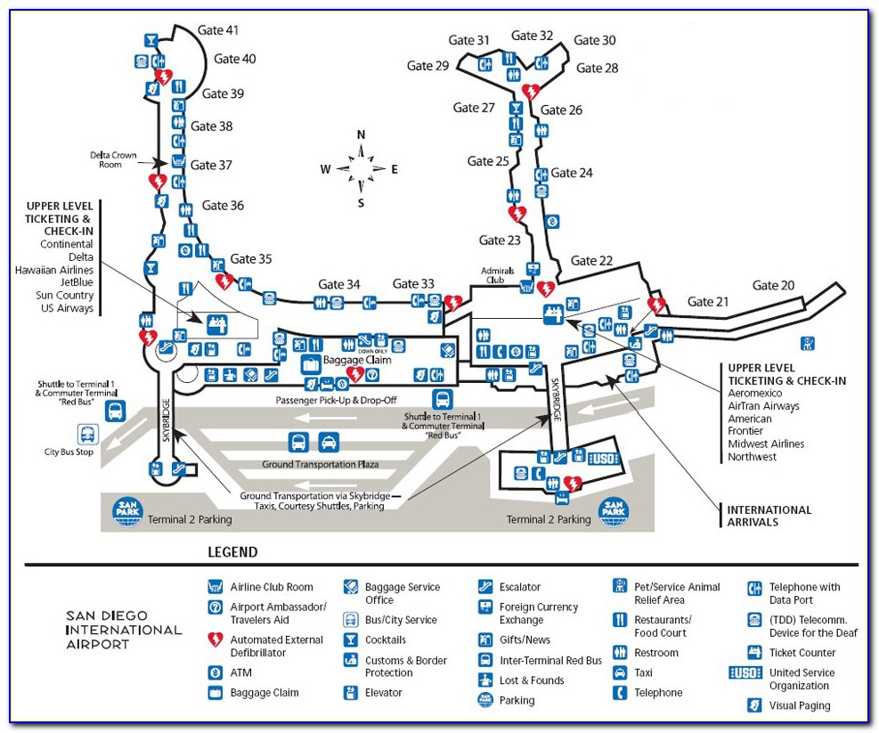 San Diego Airport Parking Map