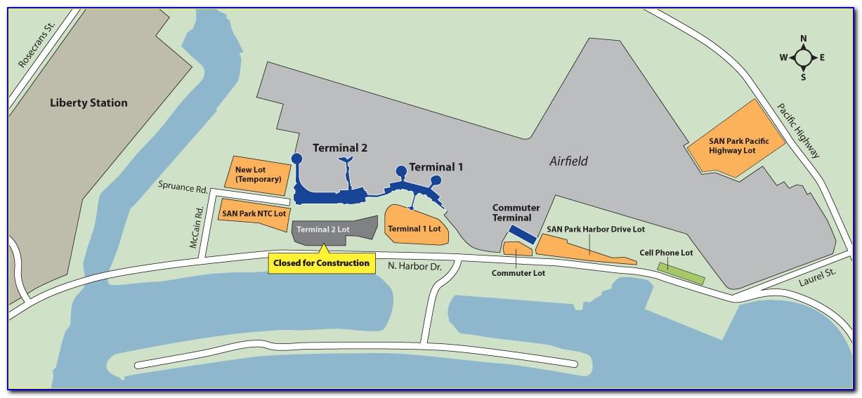 San Diego Airport Terminal 2 Parking Map