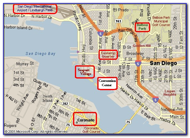San Diego Hotels Near Convention Center Map