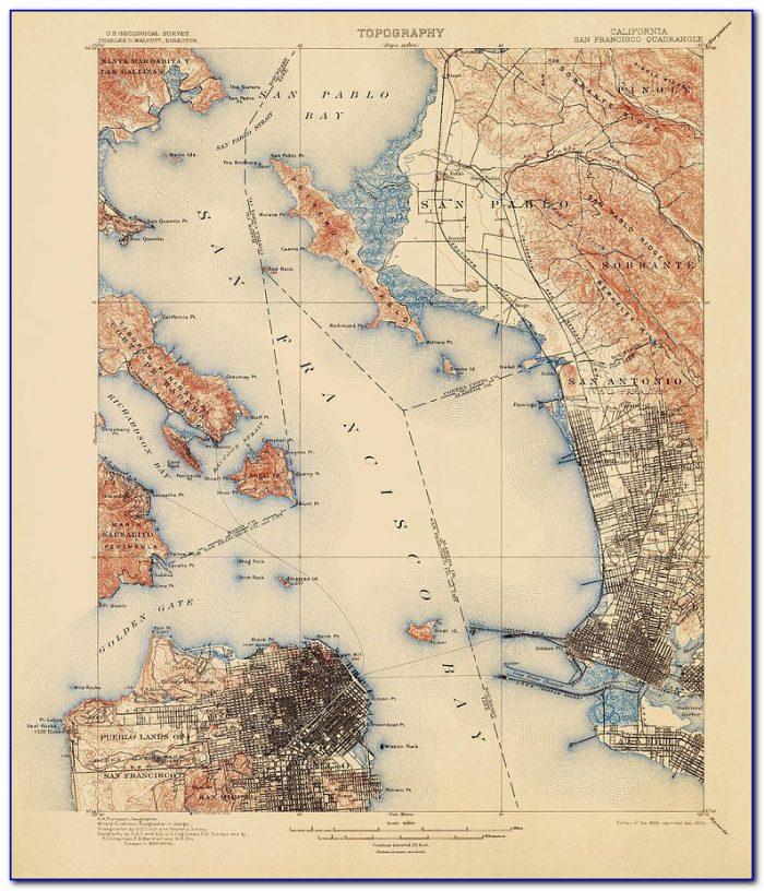 San Francisco Bay Area Elevation Map