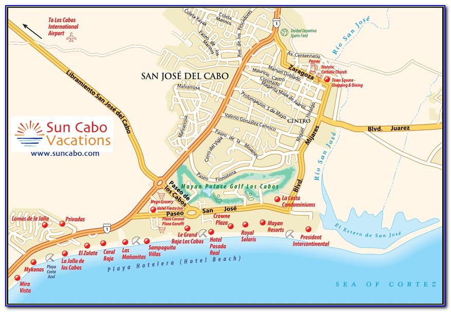 San Jose Del Cabo Hotel Map