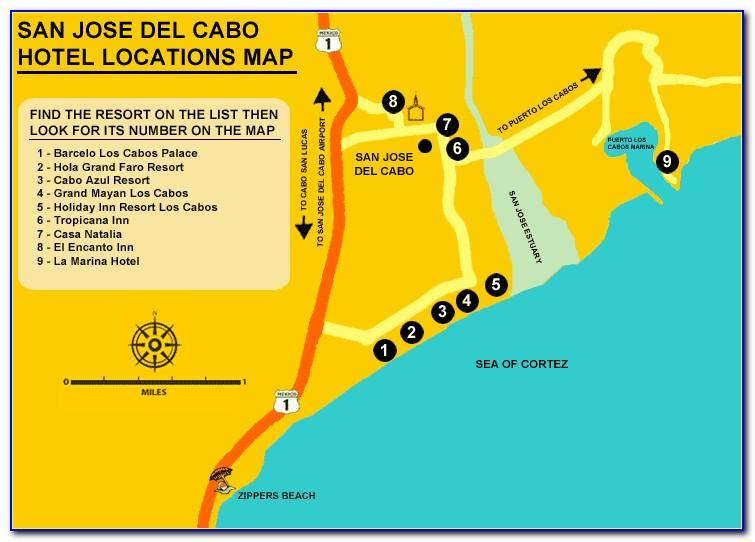 San Jose Del Cabo Hotels Map