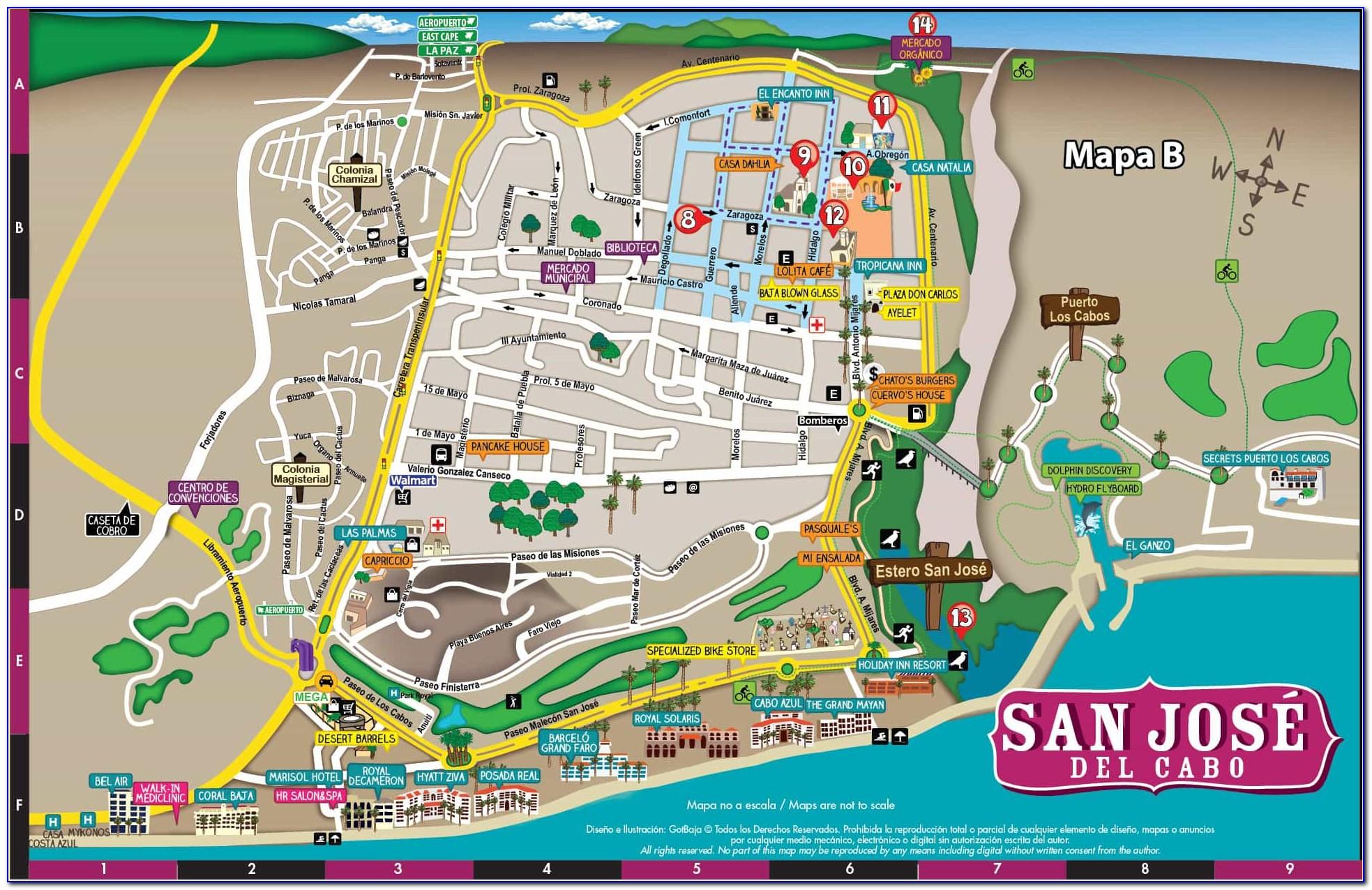 San Jose Del Cabo Real Estate Map